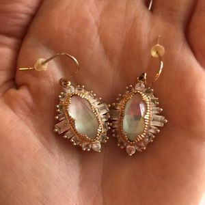 Kendra Scott Rose Gold + Crystal Earrings
